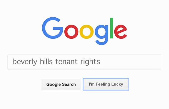 google search for tenants rights