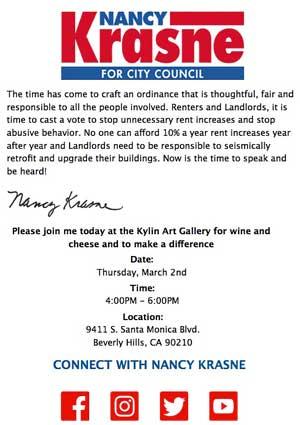 krasne campaign event invite