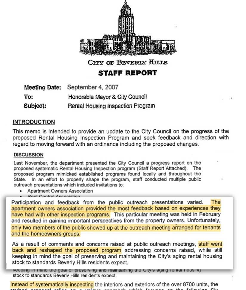 Inspection progam memo September 2007