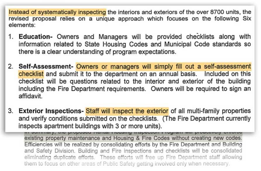 Inspection progam memo excerpt September 2007
