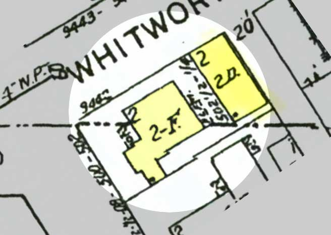 Smithwood Drive assessor map showing buildings
