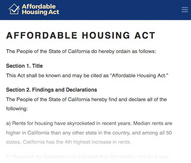 Affordable Housing Act illustration