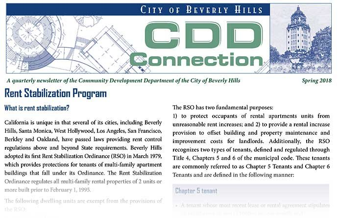 CDD Connection newsletter cover