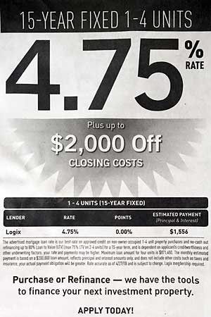 Financing advertisement