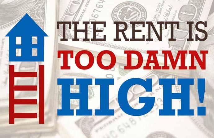Rent is too damned high!