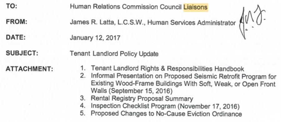 HRC liaison agenda seismic item 2017-1-12