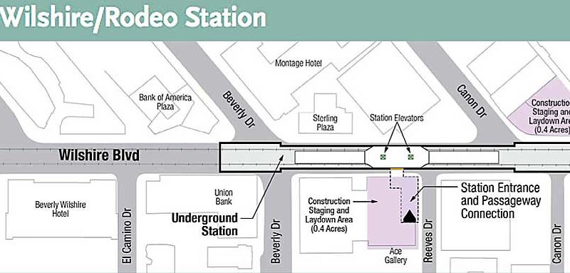 Wilshire-Rodeo station plan