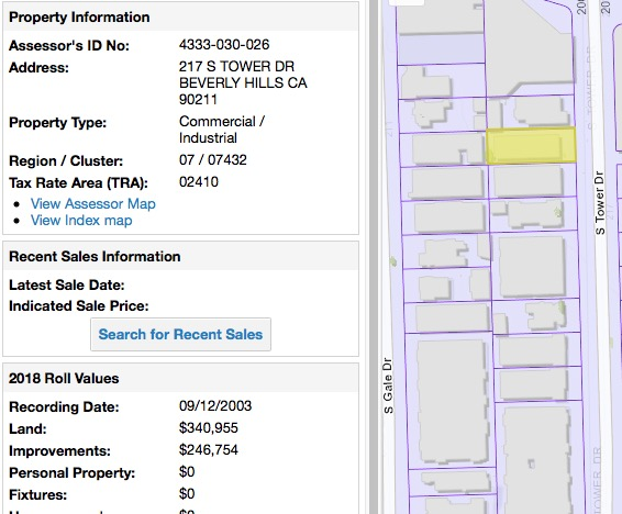Tax Assessor for Sharon Darnov's 217 S. Tower property.