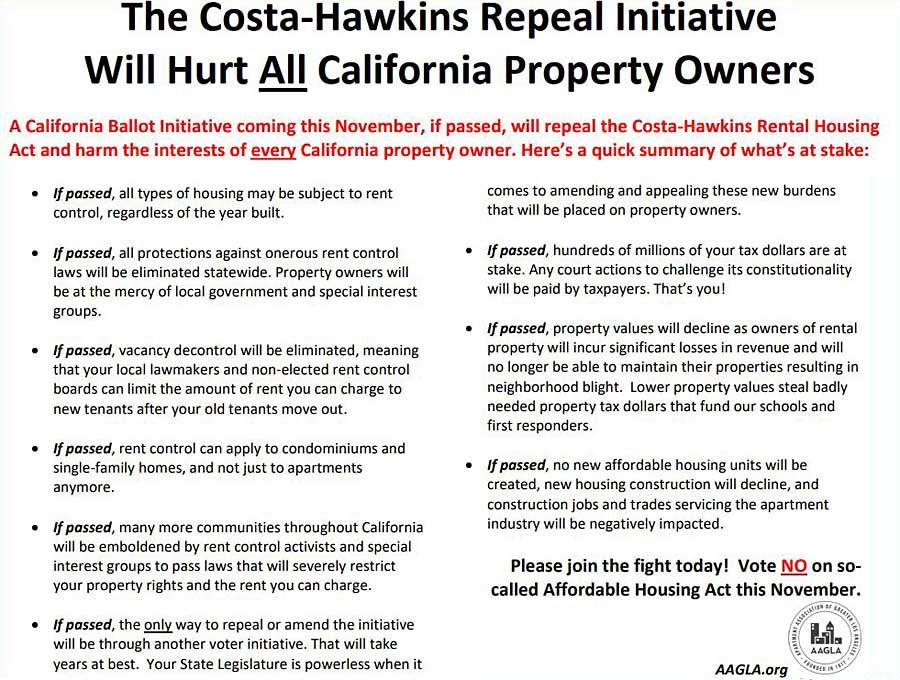 AAGLA on Costa-Hawkins repeal