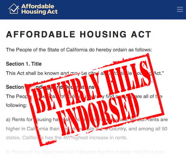 affordable housing act BH endorsed