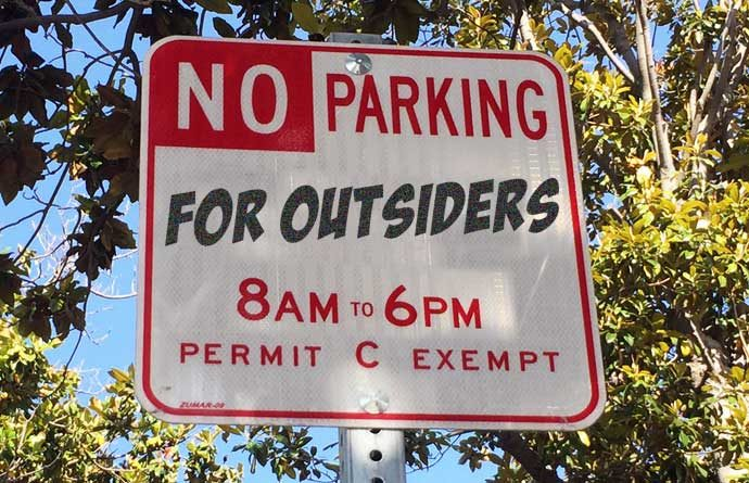 Canon homeowners: no parking for outsiders