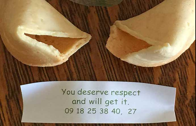 respect fortune cookie