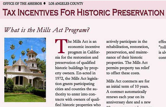 What is the Mills Act?