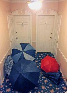 umbrellas in the hallway