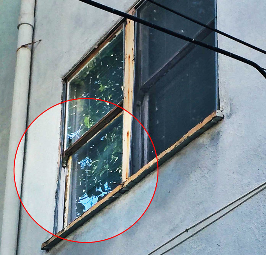 Decay, dry rot, warping, and cracking of windows at 126 North Almont is a violation of BHMC 5-7-4.
