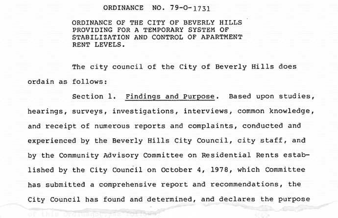 RSO ordinance 1978