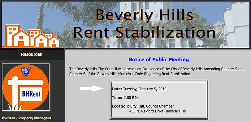 Website notice of past Feb 5th meeting