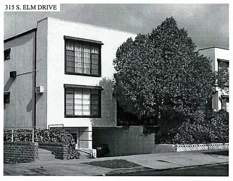 313-315 South Elm Drive from field survey