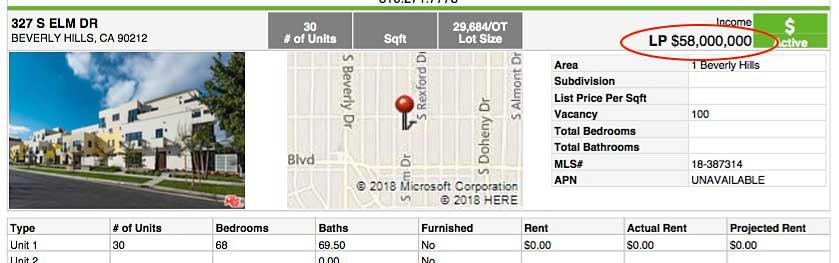309-325 South Elm listing