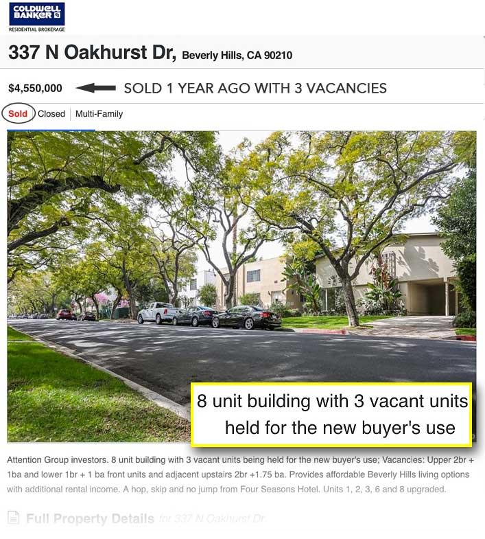 337 N Oakhurst sold listing