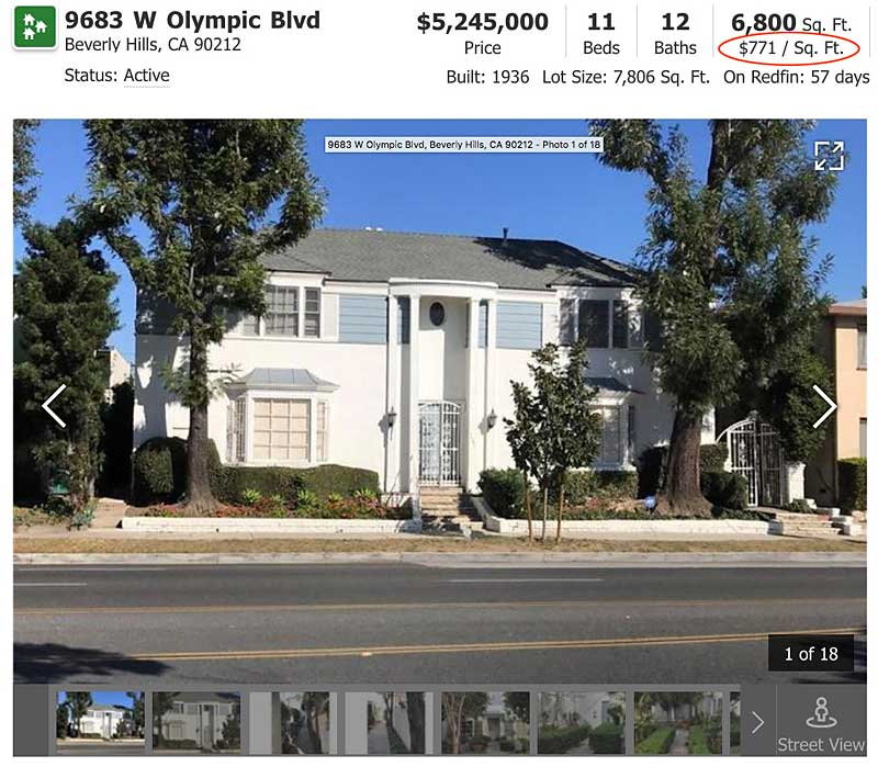 9683 West Olympic listing