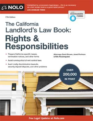 Nolo's California Landlords Law Book cover