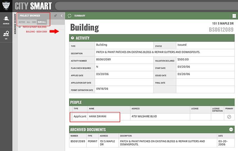 151 S Maple citysmart building permit