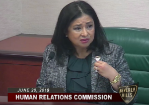 Human Relations Commission chairperson Annette Saleh