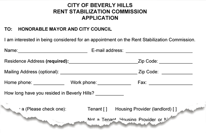 Rent stabilizaiton commission application