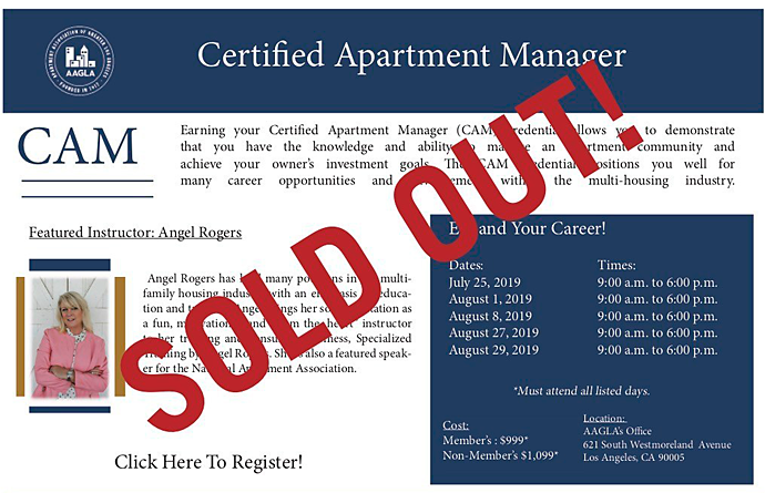 AAGLA certified apartment manager course