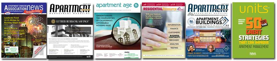 Apartment associations magazine covers