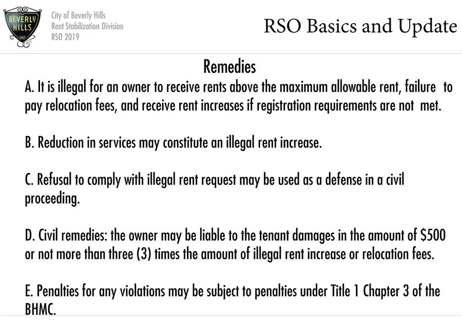 RSO tenant workshop slide: civil remedies