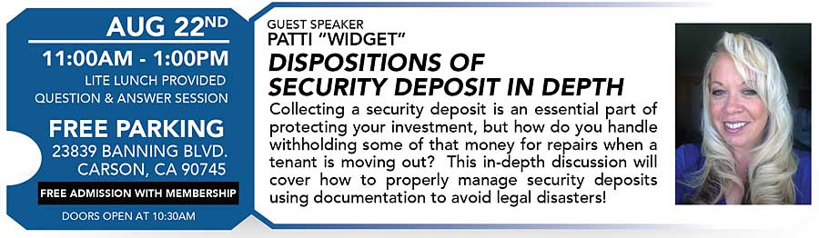 Seminar on security deposits by Apartment Investor Club