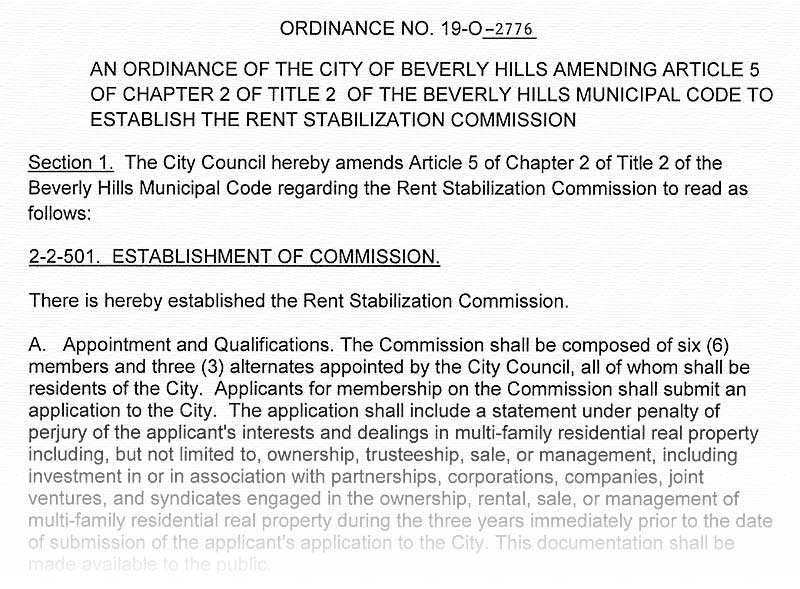 Final commission ordinance