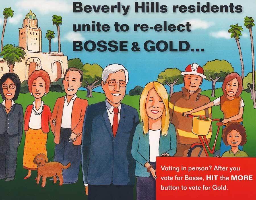 Bosse-Gold PAC cartoon mailer