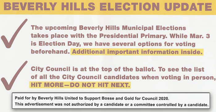 Bosse-Gold PAC mailer hit more do not hit next message detail