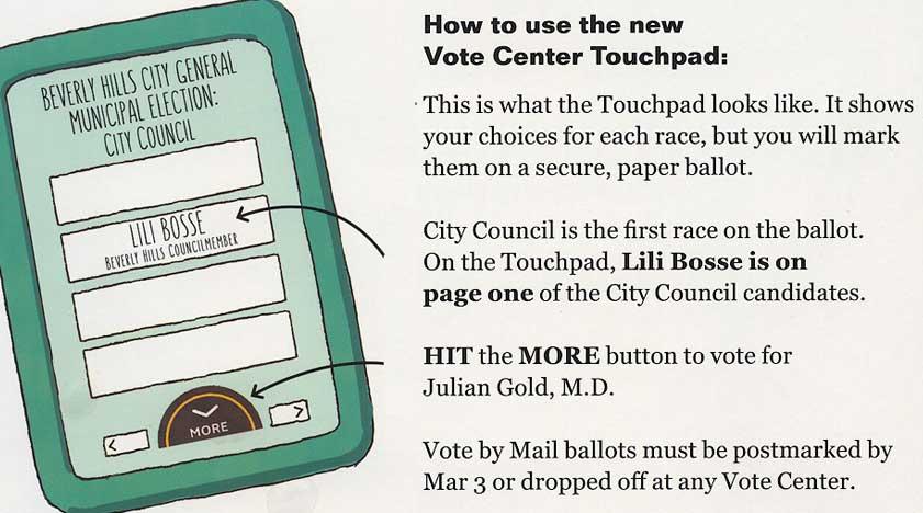Bosse-Gold PAC mailer touchscreen detail