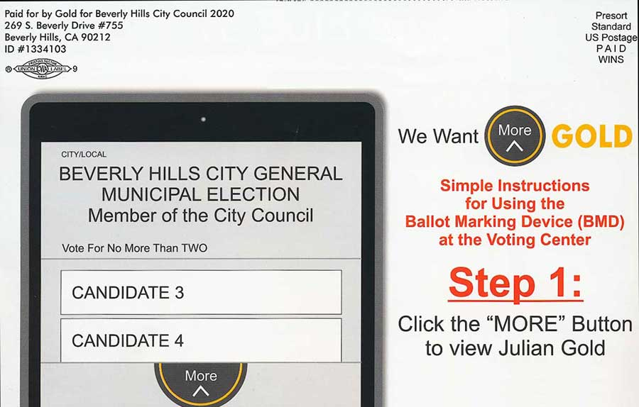 Gold mailer voting directions detail