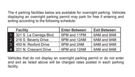 Overight parking garages excerpt