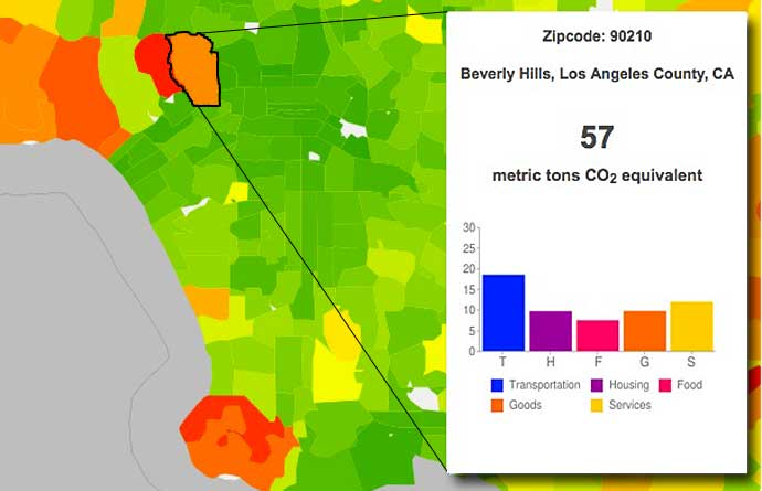 Christopher Jones and Daniel Kammen calculate the carbon footprint for Beverly Hills 90210