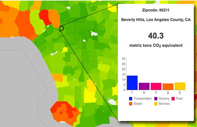 Christopher Jones and Daniel Kammen calculate the carbon footprint for Beverly Hills 90211