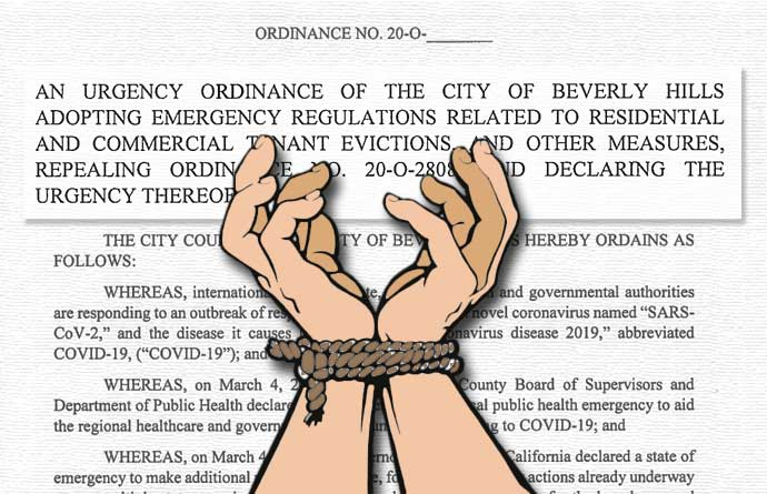 Urgency ordinance shackles