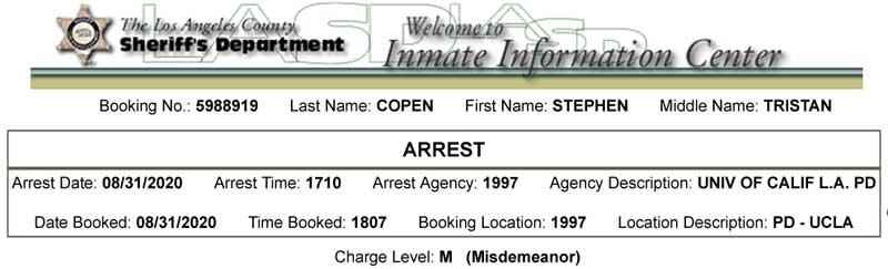 Copen booking sheet