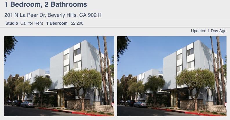 201 N La Peer Westside rentals listing