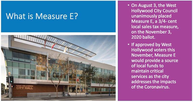 WeHo Measure E graphic