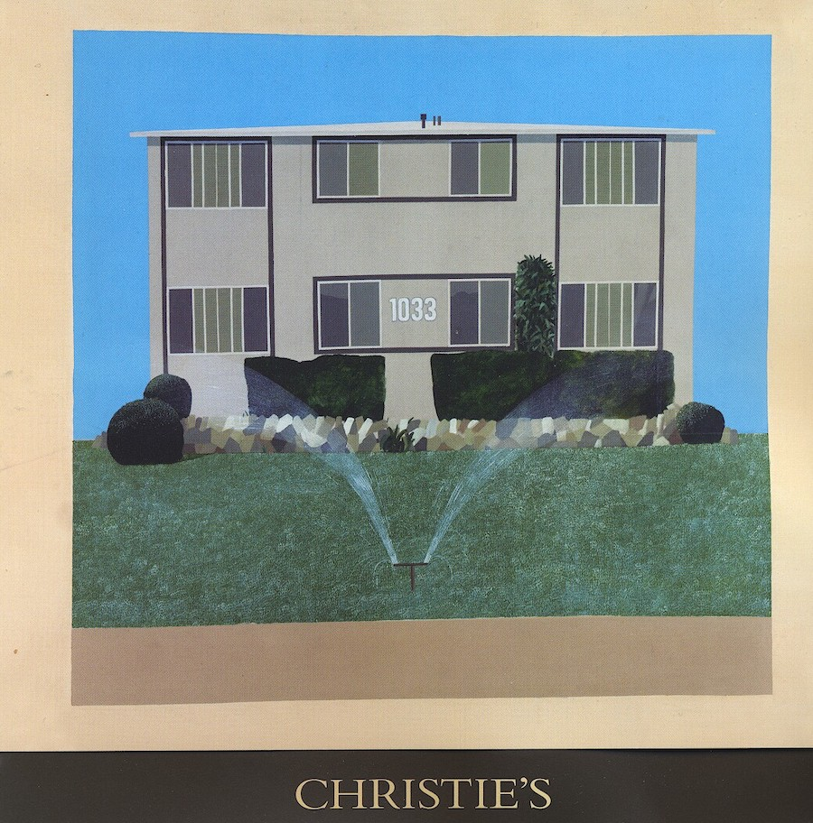 David Hockney 1033 S Bedford Christies card