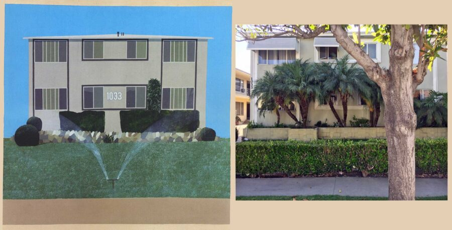 Comparison of Hockney's vision and today's 1033 South Beverly