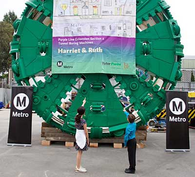 Harriet and Ruth tunnel boring machines
