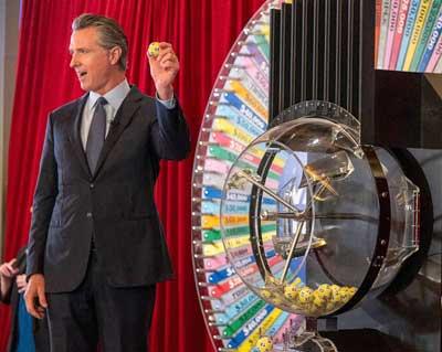 Newsom vax lottery