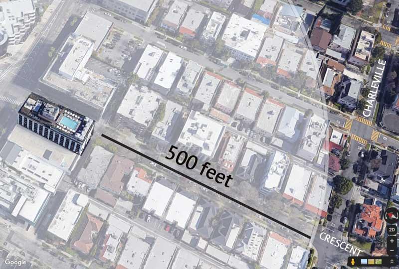Sixty Hotel 500 feet radius map